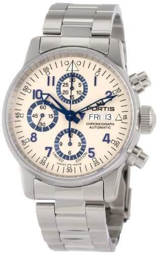 Fortis Herren 5972092 M Flieger Chronograph Automatic Day Date und Limited Edition Uhr aus Edelstahl