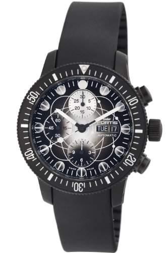 Fortis Herren 6382817 K B-42 Schwarz Chronograph