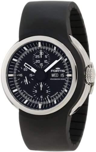 Fortis Herren 6612031 K Spaceleader Automatic Black Dial Uhr