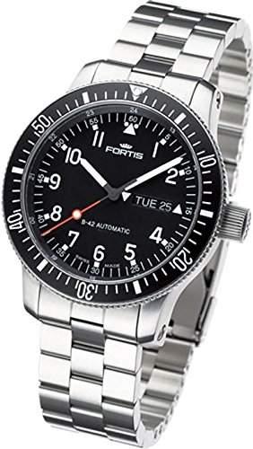 Fortis B42 Official Cosmonauts Day Date 6471011M Herren Automatikuhr Massives Gehaeuse