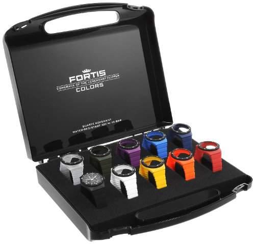 Fortis Colors Koffer-Set mit einer Uhr und 10 Wechselbaendern