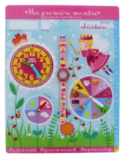 Baby Watch Kinder-Armbanduhr Abc Magique Quarz Rosa Abc Magique