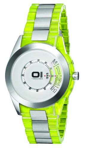 THE ONE - Binary Watch Herren-Armbanduhr Turning Disc Analog Quarz AN08G01