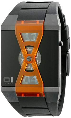 THE ONE - Binary Watch Herren-Armbanduhr Turning Disc X Digital Quarz AN09G03