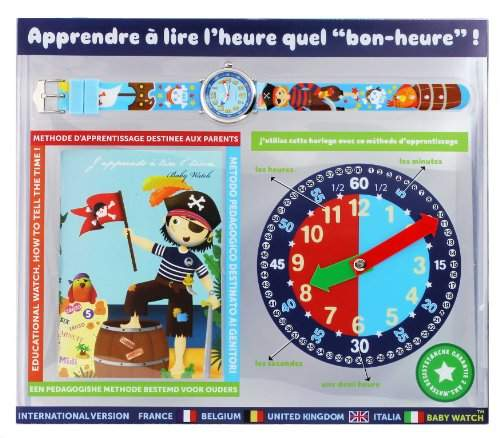 Baby Watch - Réveil - Montre pédagogique zip Pirate 6-9 ans