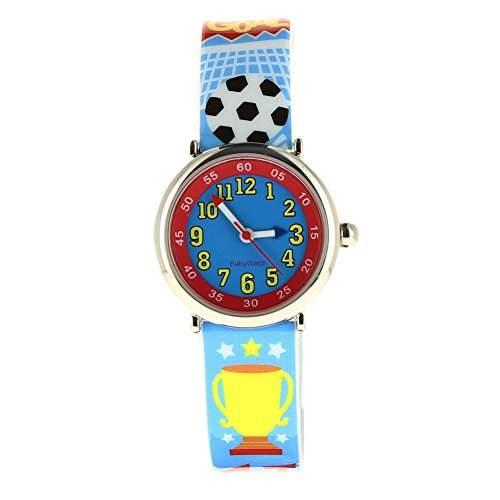 """Baby Watch 606092 Jungen-Armbanduhr, Design: """"Goal"""", Quarzuhrwerk, Pädagogisch, wertvoll, Zifferblatt, Kunststoff, mehrfarbig"""
