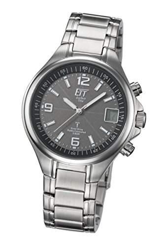Eco Tech Time Solar Funk Herren-Armbanduhr Solar Drive Funk EGS-11035-31M