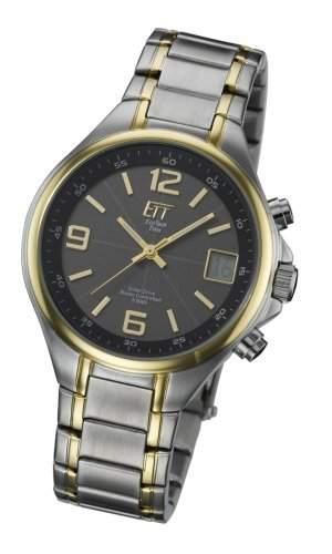 Eco Tech Time Solar Funk Herren-Armbanduhr Solar Drive Funk EGS-11036-51M