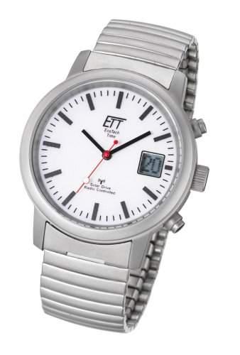 Herren Armbanduhr mit Funk Solar Eco Tech Time Solar Drive Funk Basic Herrenuhr EGS-11187-11M Funk-Solar Herrenuhr