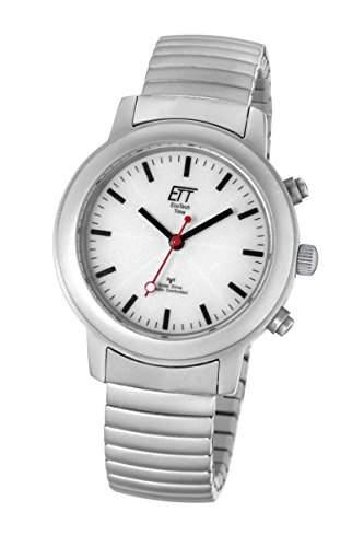 Damen Armbanduhr mit Funk und Solar Eco Tech Time Solar Drive Funk Basic Damenuhr ELS-11188-11M Funk-Solar-Damenuhr
