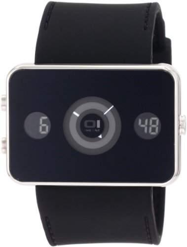 The One Herren-Armbanduhr Analog-Digital Turning Disc schwarz IP102-3BK