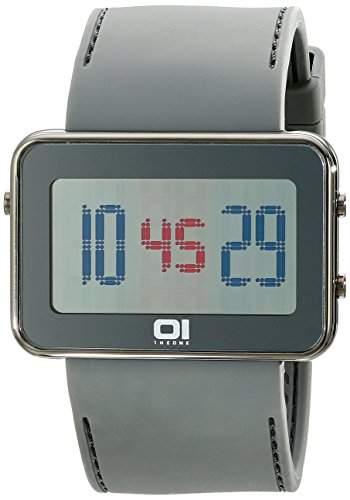 The One Unisex-Armbanduhr Digital Kautschuk grau IPLD1118-3GY
