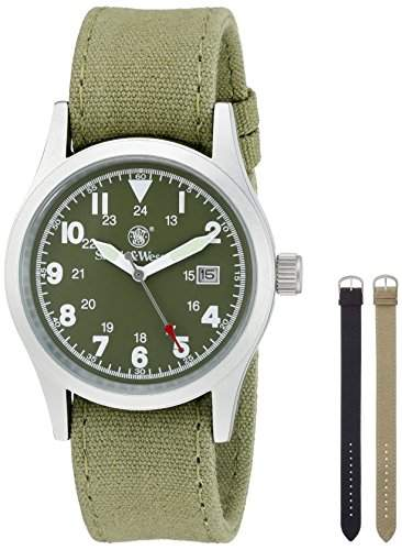 Smith and Wesson Uhr, Modell Military, mit 3 Armbaendern