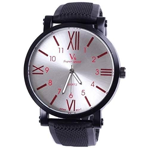 Neueste Japan-Bewegungs-Fashion-Marken-Uhr-Mann-Sport-Tag grosse Zifferblatt Quarz-Roman Nummer-Armbanduhren