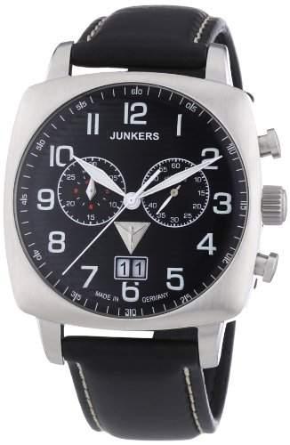 Junkers Herren-Armbanduhr XL 1 Atlantikflug Ost-West Chronograph Quarz Leder 64862