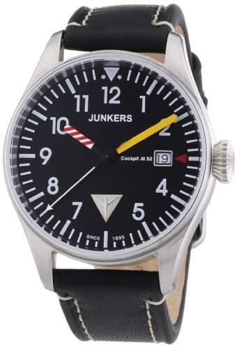 Junkers Herren-Armbanduhr XL Analog Quarz Leder 6144-3