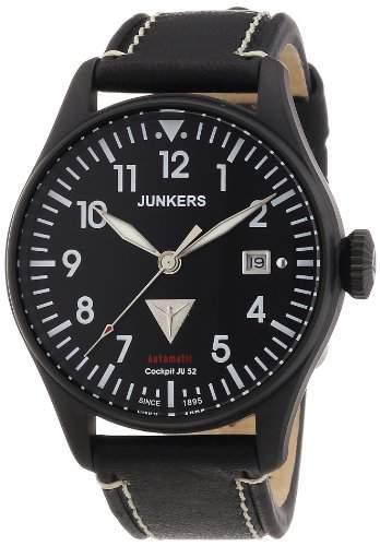 Junkers Herren-Armbanduhr XL Analog Automatik Leder 6152-2