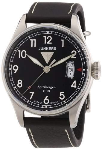Junkers Herren-Armbanduhr XL Spitzbergen F13 Analog Quarz Leder 61702