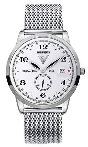 Junkers Herren-Armbanduhr Analog Quarz Edelstahl 6334M1