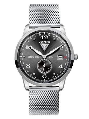 Junkers Herren-Armbanduhr Analog Quarz Edelstahl 6334M2