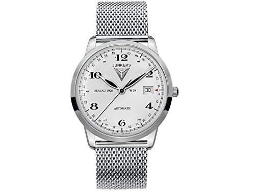 Junkers Herren-Armbanduhr Analog Automatik Edelstahl 6350M4