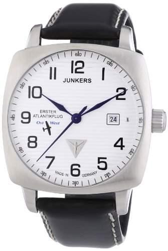 Junkers Herren-Armbanduhr 1 Atlantikflug Ost-West Analog Automatik Leder 64501
