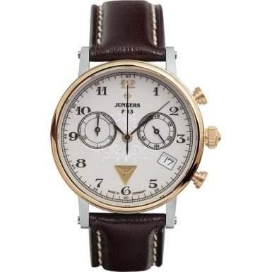Junkers Damen-Armbanduhr Chronograph Quarz Leder 65875