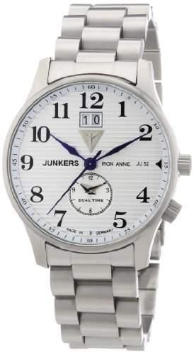 Junkers Herren-Armbanduhr XL Iron Annie JU52 Analog Quarz Edelstahl 6640M1