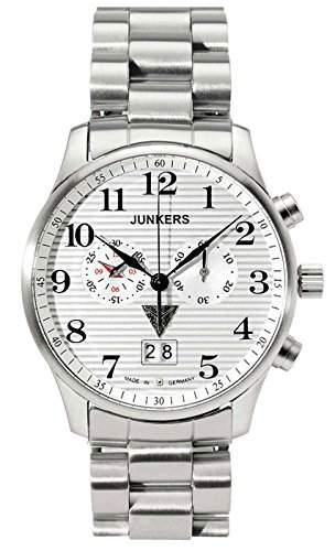 Junkers Herren-Armbanduhr Chronograph Quarz Edelstahl 6686M1
