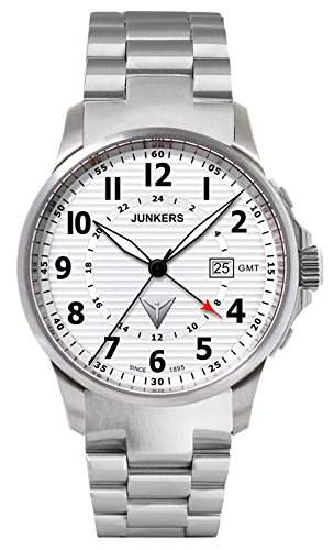 Junkers 6848M-1 Herren-Uhr Tante JU Edelstahl GMT