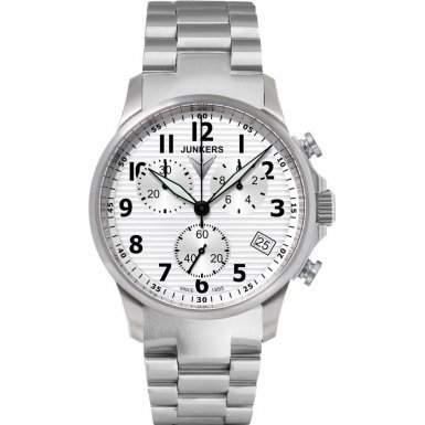 Junkers Herren-Armbanduhr Chronograph Quarz Edelstahl 6890M1