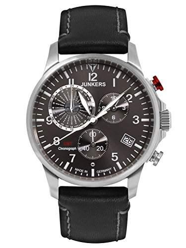 Junkers Herren-Armbanduhr Chronograph Quarz Leder 68922