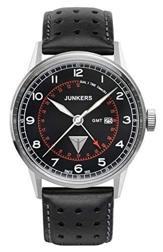 Junkers Herren-Armbanduhr Analog Quarz Leder 69462