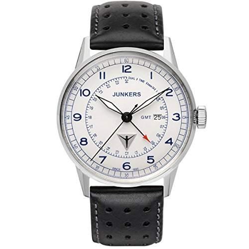 Junkers Herren-Armbanduhr Analog Quarz Leder 6946-3