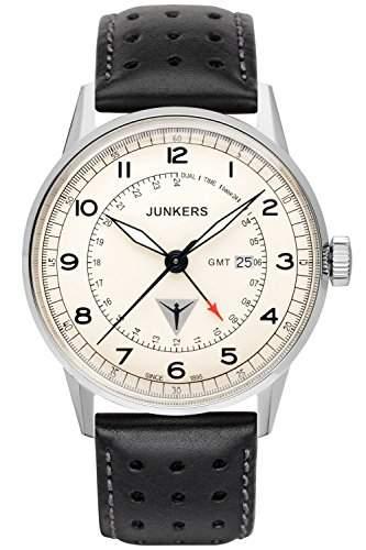 Junkers Herren-Armbanduhr Analog Quarz Leder 69465