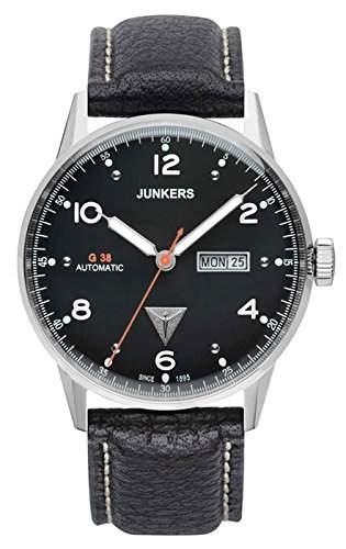 Junkers Herren-Armbanduhr Analog Automatik Leder 69662