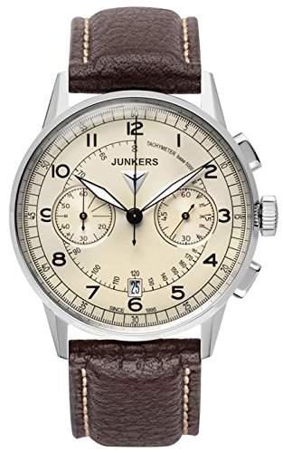 Junkers Herren-Armbanduhr Chronograph Quarz Leder 69701