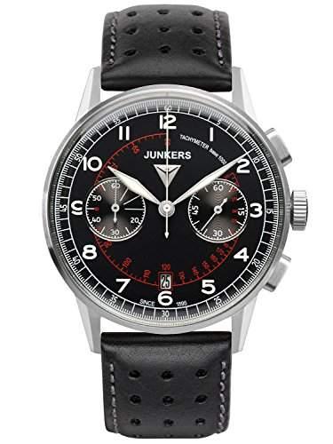 Junkers Herren-Armbanduhr Chronograph Quarz Leder 69702