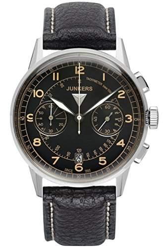 Junkers Herren-Armbanduhr Chronograph Quarz Leder 69705