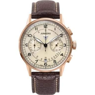 Junkers Herren-Armbanduhr Chronograph Quarz Leder 69721