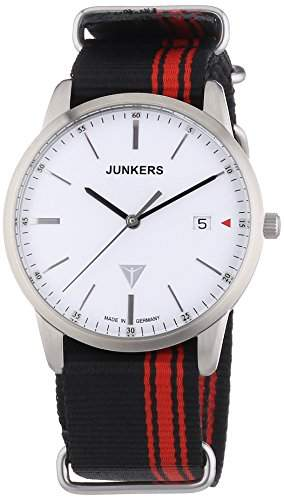 Junkers Watches Herren-Armbanduhr XL Analog Quarz Textil 6C38-1