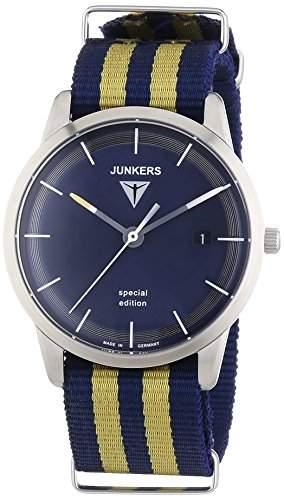 Junkers Watches Herren-Armbanduhr XL Analog Quarz Textil 6C38-4