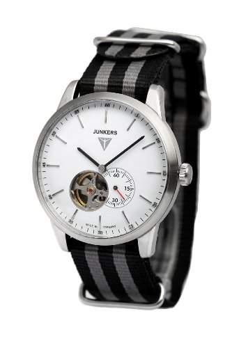 Junkers Watches Herren-Armbanduhr XL Analog Automatik Textil 6C60-1