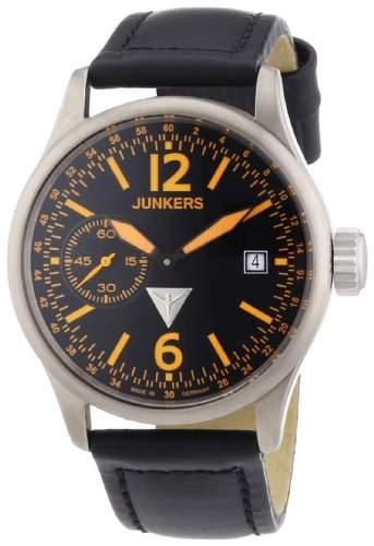 Junkers Herren-Armbanduhr XL Flugweltrekorde G38 Analog Handaufzug Leder 62385