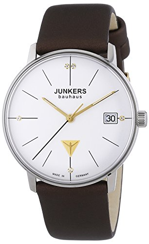 Junkers XS Bauhaus Analog Quarz Leder 60734