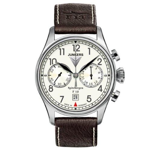 Junkers XL Spitzbergen F13 Chronograph Handaufzug Leder 61105