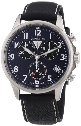 Junkers Herren Armbanduhr XL Tante Ju Chronograph Quarz Leder 68903