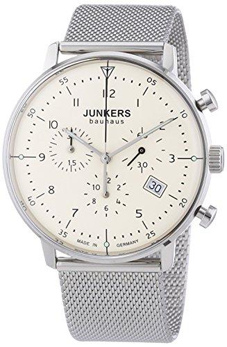 Junkers XL Bauhaus Chronograph Quarz Edelstahl 6086M5