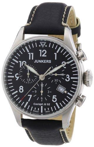 Junkers XL Cockpit JU52 Chronograph Quarz Leder 61802
