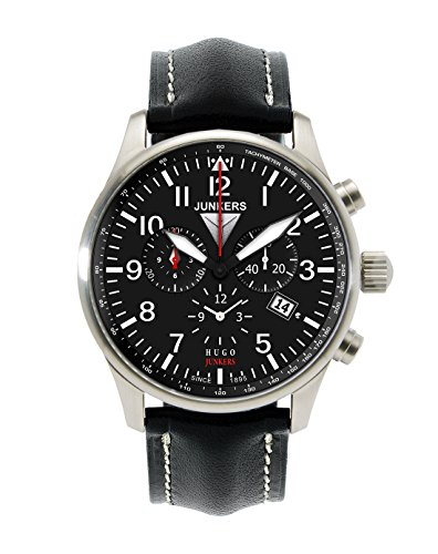 Junkers XL Hugo Chronograph Quarz Leder 66842